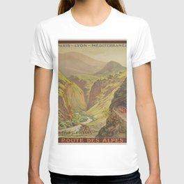 Vintage poster - Route des Alpes, France T-shirt