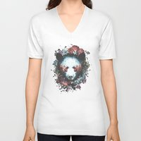warrior V-neck T-shirts featuring Warrior by Tracie Andrews
