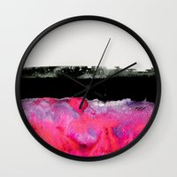 georgiana paraschiv Wall Clocks featuring Immersed by Georgiana Paraschiv