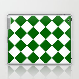 Large Diamonds - White and Dark Green Laptop & iPad Skin