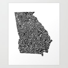 Typographic Georgia Art Print