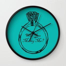 Will You Marry Me Wall Clock