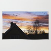 swedish Area & Throw Rugs featuring Swedish Sunset by Matthew Phillips