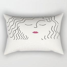 Sophie in white dress Rectangular Pillow