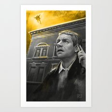 The Reichenbach Fall Art Print