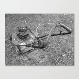 Old lawn mover Canvas Print