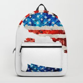 Map of The United States Of America 23 - Sharon Cummings Backpack