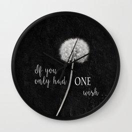 One Wish Wall Clock