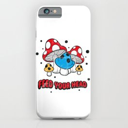 Feed Your Head Psychedelic Drugs Rave Molly Acid LSD Vintage design iPhone Case