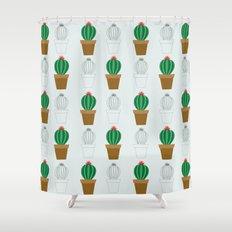 C13D Cactus Shower Curtain