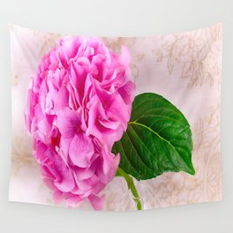 Vintage Pink Hydrangea Wall Tapestry