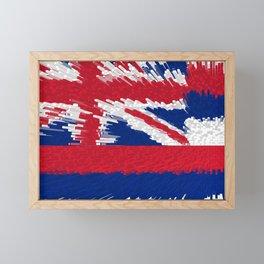 Extruded Flag of Hawaii Framed Mini Art Print