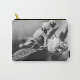 Mini Roses Black White Carry-All Pouch