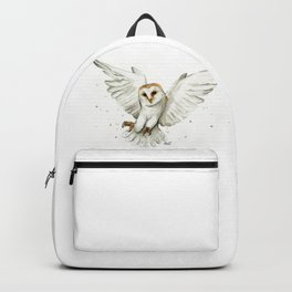 Barn Owl Flying Watercolor | Wildlife Animals Backpack