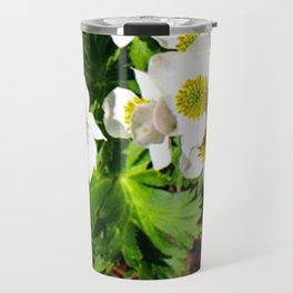 Small White Flowers #society6 #decor #buyart Travel Mug