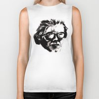 beethoven Biker Tanks featuring Hipster Beethoven by Hurtin Albertan