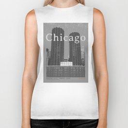 Chicago: Marina City Towers Biker Tank