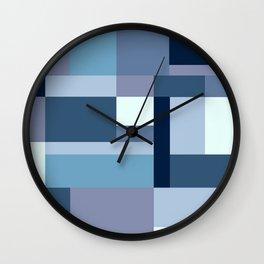 Abstract #387 Blue Harmony Wall Clock