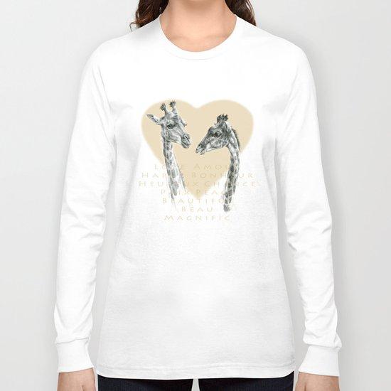 Giraffes love G055bis Long Sleeve T-shirt