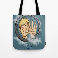 baloon Tote Bags featuring Charlie baloon by Arry Design