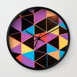 Colors and Forms Wall Clock