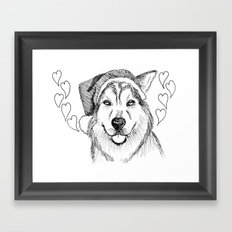 Husky Love Framed Art Print