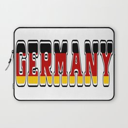 Germany Font with German Flag Laptop Sleeve