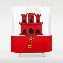 Flag Of Gibraltar Shower Curtain