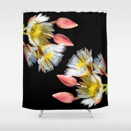 Bold and Wild Flowers Shower Curtain