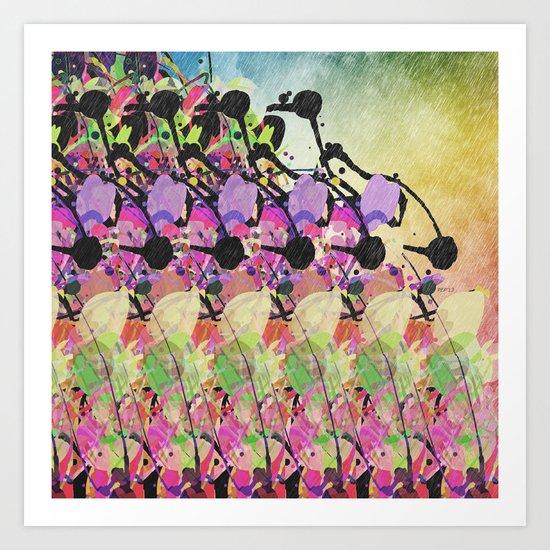 Sun Showers On Flowers Art Print