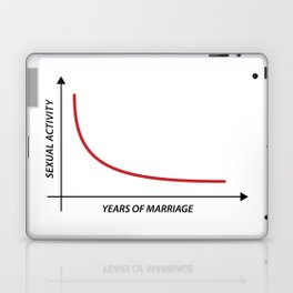 Sexual Activity versus Years of Marriage Funny Graph  Laptop & iPad Skin