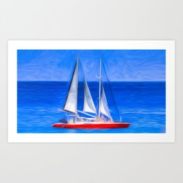 Catamaran Art Panorama Art Print