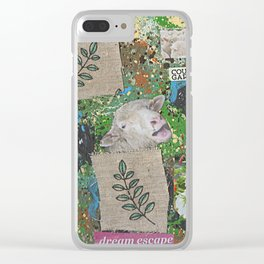 Peaceful Flock Clear iPhone Case
