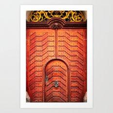 Doors of Prague, No. 4 Art Print