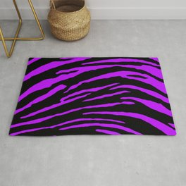 Purple Tiger Stripes Rug