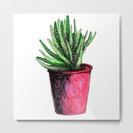 With all my love: a small succulent Metal Print