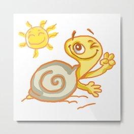 Dale the snail! Metal Print