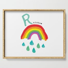 R is for Rainbow Serving Tray