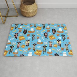 Ahoy Matey! Kids Pirate Treasure Hunt Rug