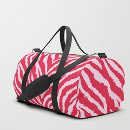 Red zebra fur texture Duffle Bag