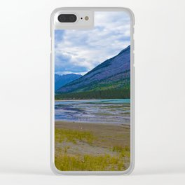 Morrow Peak & the Athabasca River in Jasper National Park, Canada Clear iPhone Case