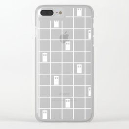 TARDIS Tiles Clear iPhone Case