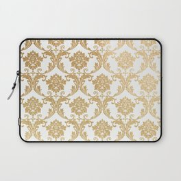 Gold swirls damask #4 Laptop Sleeve