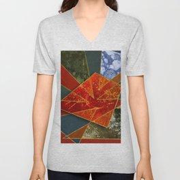 Abstract #330 Unisex V-Neck