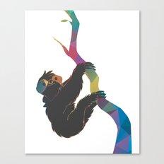 Geometric Sloth Canvas Print