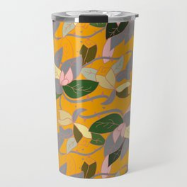 Floral and thorn pattern Travel Mug