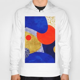 Terrazzo galaxy blue night yellow gold orange Hoody