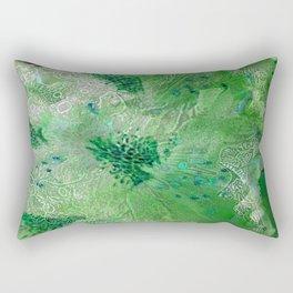 Green Lace Azalea Abstract  Rectangular Pillow