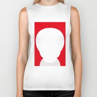 the who Biker Tanks featuring Who? by ONEDAY+GRAPHIC