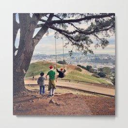 Children Swinging in San Francisco Metal Print